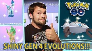 NEW GEN 4 SHINY EVOLUTIONS IN POKEMON GO! SHINY FLOWER CROWN EVOLUTIONS!