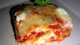 Vegetarian Lasagna Recipe - Home Made Healthy Italian Food with Fresh Herbs