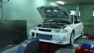 Mitsubishi Evolution 7 |  700hp  dyno pull