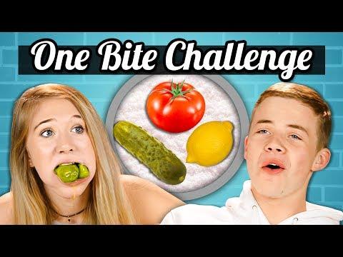 ONE BITE CHALLENGE! | Teens Vs. Food