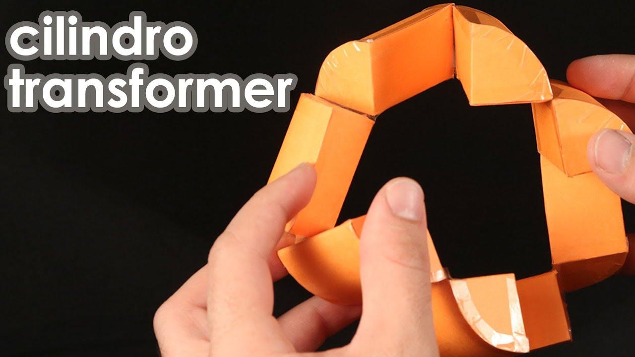 Cilindro transformer quebra cabe a de origami youtube - Origami para todos ...