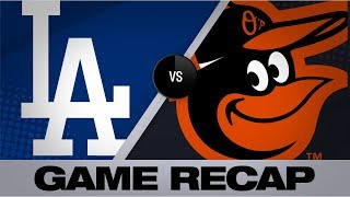 8 Dodgers combine to 2-hit the Orioles | Dodgers-Orioles Game Highlights 9/12/19
