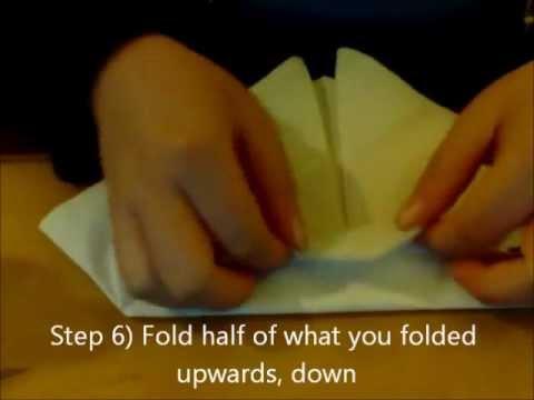 Fancy Paper Napkin Folding Ideas How to Fold a Paper Napkin in