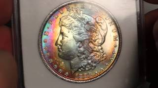 CoinGuy Ep 9: 1886 Morgan Silver Dollar NGC MS63 Star *Vibrant Rainbow Toning!*