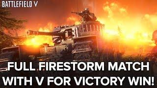 Battlefield V Battle Royale Firestorm gameplay - FULL MATCH WITH WIN