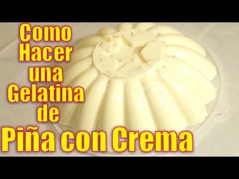 Gelatina de Piña con Crema | Casayfamiliatv