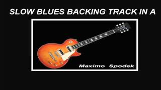 SLOW BLUES, BACKING TRACK GUITAR, HARMONICA, SAXOPHONE,  IN A