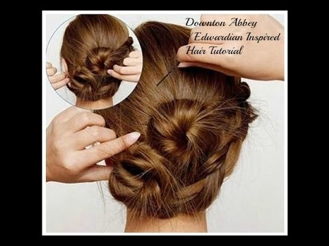 Downton Abbey Edwardian Inspired Hair Tutorial YouTube