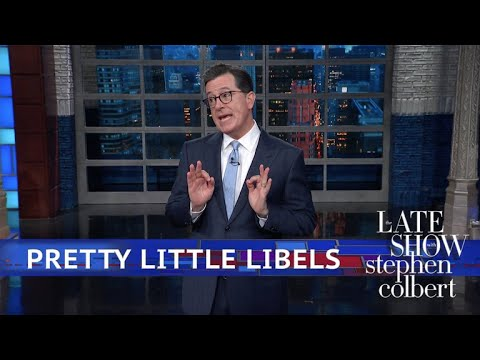 Stephen Gets In A Few Words Before Trump's Libel Crackdown