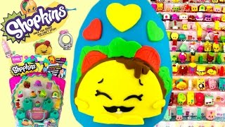 SHOPKINS Taco Terrie Play Doh Surprise Egg Limited Edition Hunt! Can We Complete Season 3?!