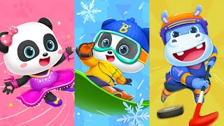 Baby Panda's Short Track Race | Winter Games | Sports Competition | BabyBus