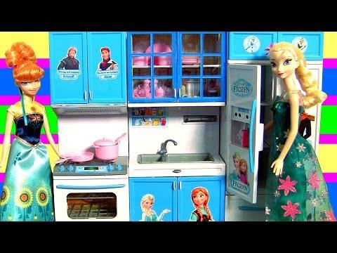 Cozinha Infantil Princesa Anna e Elsa Febre Congelante do Filme Disney Frozen Completo em Portugues