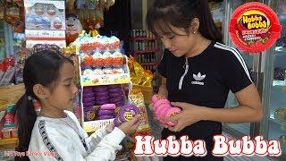 Đi Mua Kẹo Hubba Bubba và Kẹo Halloween - MN Toys Family Vlogs