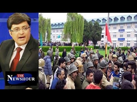 Inhuman Brutality At NIT Campus  : The Newshour Debate (6th April 2016)