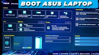 How ! ASUS Laptop BOOT Menu Bios Settings ! Secure BOOT ! Boot from DVD Room ,