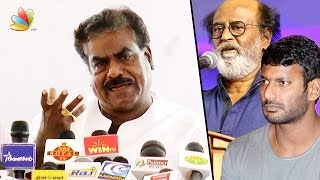 Heroes condemn smoking but not Rs. 2000 tickets : P. Kannappan Speech against Vishal & Rajini