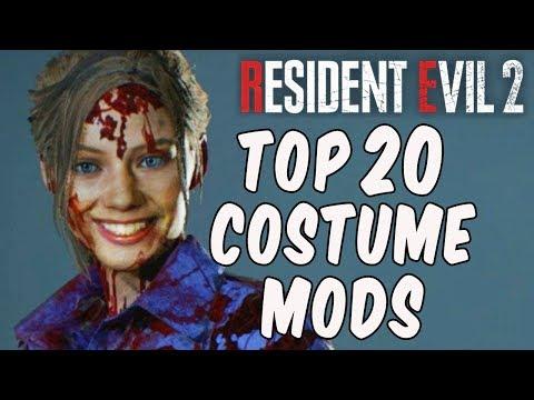 Resident Evil 2 - TOP 20 COSTUME MODS!