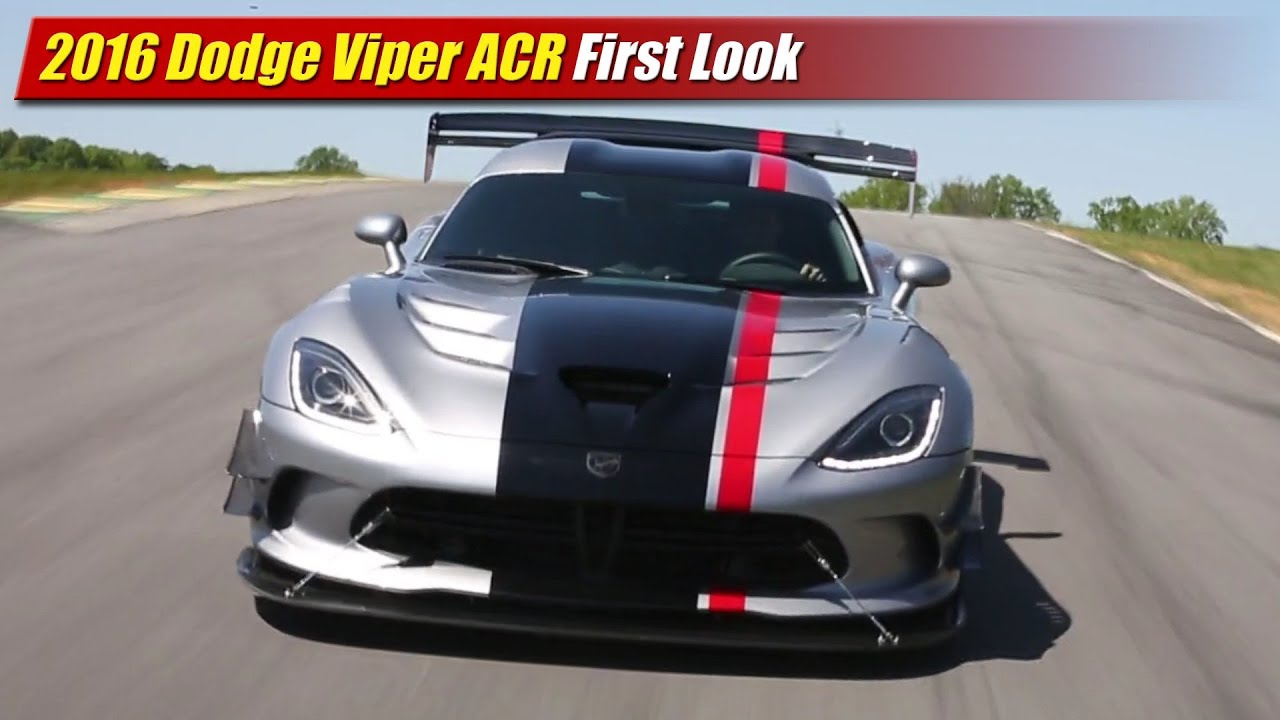 2016 Dodge Viper ACR First Look