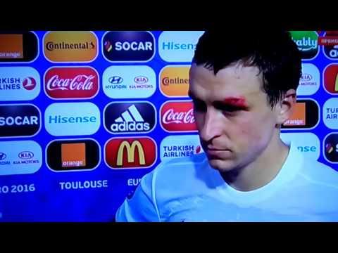Интервью Мамаева после игры Россия vs Уэльс 0:3 (20.06.16) Euro 2016