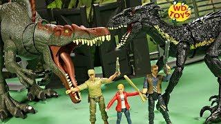 New Jurassic World Action Figures Maisie & Wheatley SPINOSAURUS VS INDORAPTOR Fallen Kingdom Toys