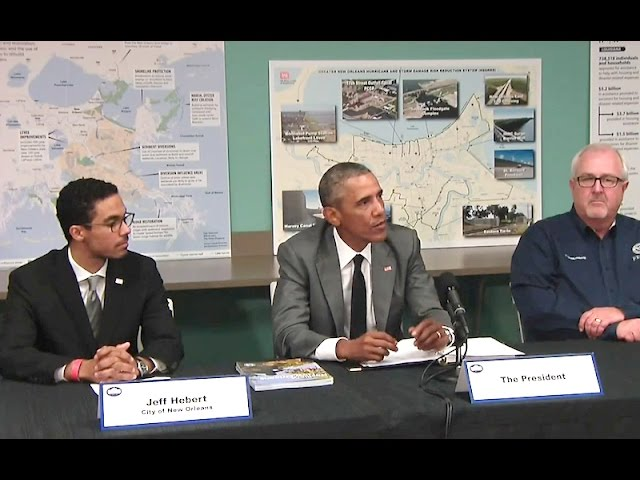 The President is Briefed on Resilience and Preparedness Efforts in New Orleans