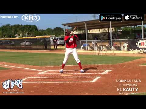 Norman Fana OF 2019 Class from (El bauty Baseball Academy) Date video: 19.02.2018