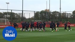 Manchester Und train ahead of Champions League matchvs Juventus