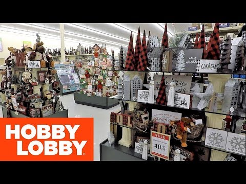 CHRISTMAS 2018 AT HOBBY LOBBY - CHRISTMAS CRAFTS CHRISTMAS DECOR HOME DECOR DECORATIONS SHOPPING