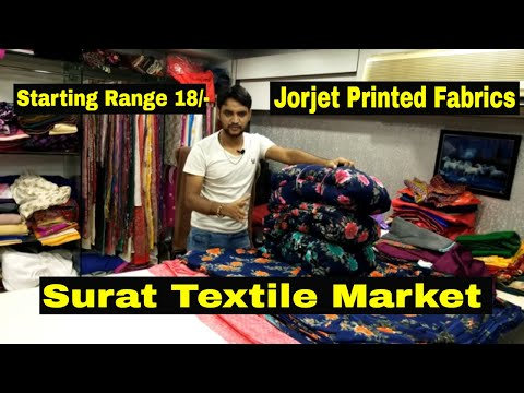Jorjet Printed Fabric|Surat Textile Market | होलसेल कपड़ा मार्केट सूरत |