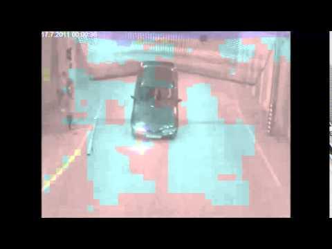 Stupid Man Flips Car in Parking Garage