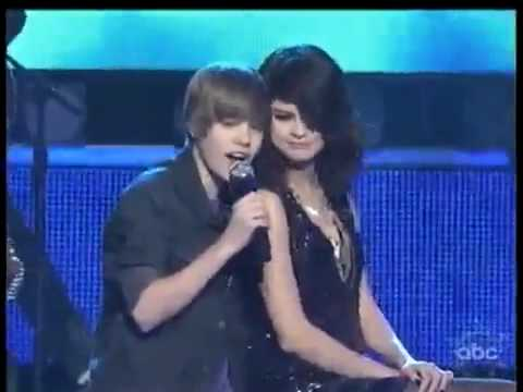 "Justin Bieber sings ""One Less Lonely Girl"" to Selena Gomez in NYC on New Year's Eve. He was all over her and I thought it was the cutest thing ever! Both sta..."
