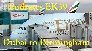 Trip Report  Emirates Airbus A380  EK39 Dubai DXB to Birmingham BHX, December 2018