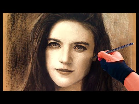 Beautiful Rose Leslie / Ygritte (Game of Thrones) Portrait Art Video