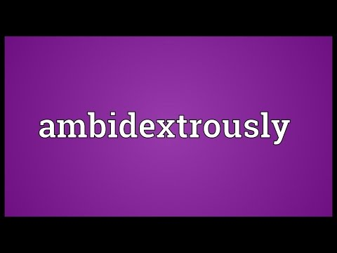 Header of ambidextrously