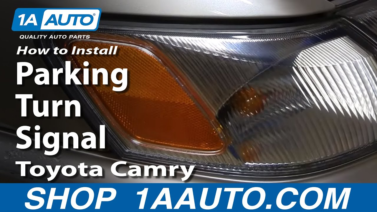 How To Install Replace Parking Turn Signal Toyota Camry 97 01 1aauto Com Youtube