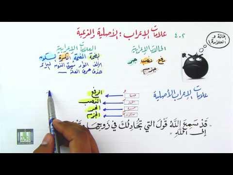 علامات الإعراب الأصلية وعلامات الإعراب الفرعية
