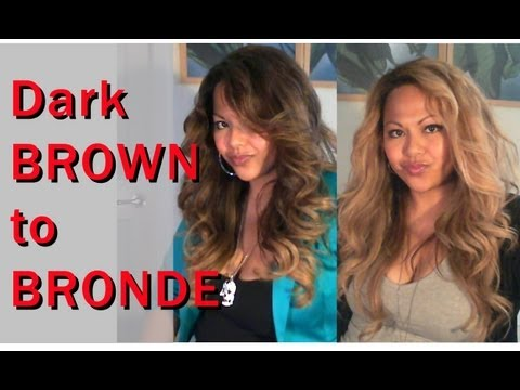 Dark Brown to BRONDE Blonde: Lightening, Toning, NO Orange!