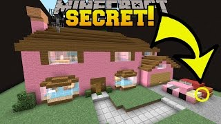 Minecraft: THE SIMPSONS HOUSE SECRET!!! - Find The Button Buildings - Custom Map