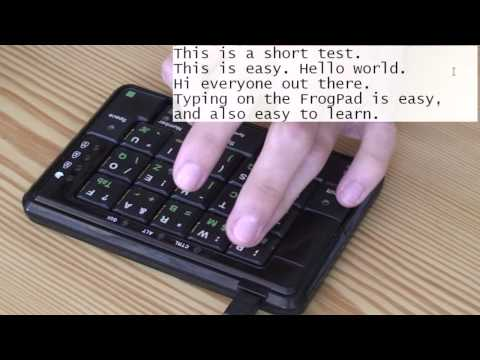 FrogPad - One-handed keyboard - Overview and demonstration