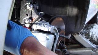 How to change front brake pads Toyota Corolla. Years 2008 - 2013