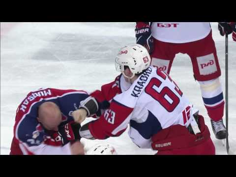 KHL fight: Mursak vs Kraskovsky