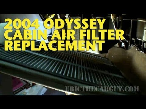 2004 Odyssey Cabin Air Filter Replacement -EricTheCarGuy