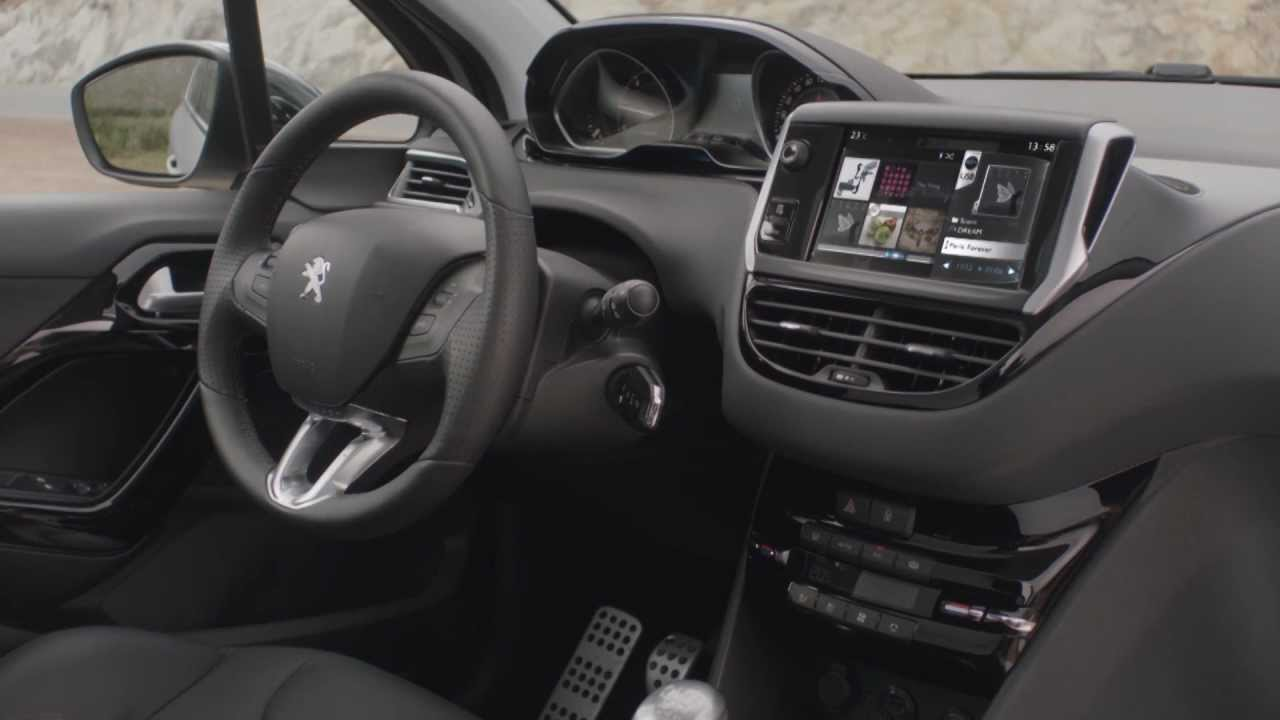 peugeot 208 interior youtube. Black Bedroom Furniture Sets. Home Design Ideas