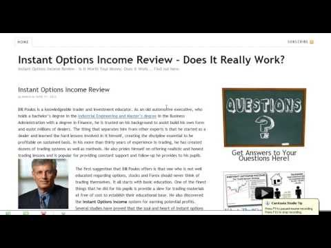 Trading options for income reviews