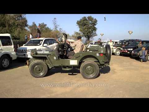 Vintage jeeps at WW II Peace Rally, Nagaland