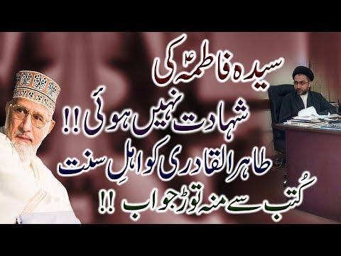 Syeda Fatima (s.a) Shaheed Nahin Hui !! | Dr.Tahir-Ul-Qadri Ko Allama Shahenshah Naqvi Ka Jawab | HD