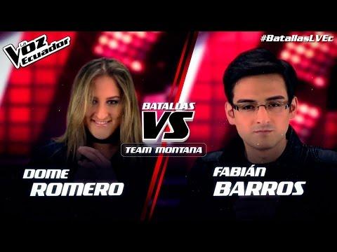"""Dome Romero vs Fabián Barros - """"Hotel California"""" - Batallas - T2 - La Voz Ecuador"""