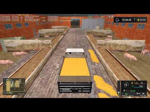 LS17 - Mega-Schweine-Projekt NF-Marsch 4fach #255 - Tiere sauber machen - Let's Play [HD]