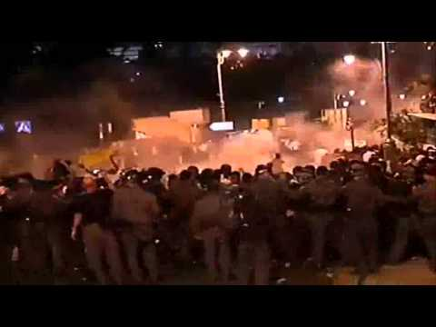 Violence in Jerusalem follows cop racist attack of Ethiopian soldier