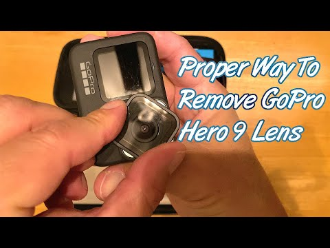 Proper Way to Remove GoPro Hero 9 Lens!